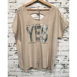 "Damen Shirt ""YES"""