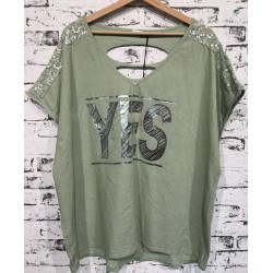 "Damen Shirt ""YES """